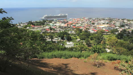 A-ship-at-Roseau-in-Dominica