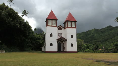 A-Catholic-church-in-Moorea