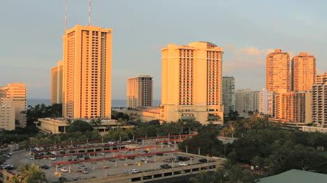 Honolulu-morning-view-of-skyline