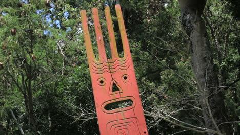 Tahiti-face-on-a-wood-slab-at-a-Marae