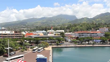 Tahití-Vista-De-La-Ciudad-De-Papeete