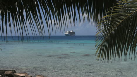 A-ship-and-palm-frond-at-Rangiroa