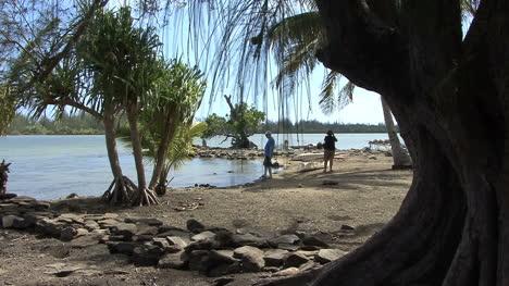 Huahine-tourists-visit-sacred-site