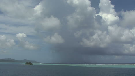 Raiatea-rain-shower-time-lapse