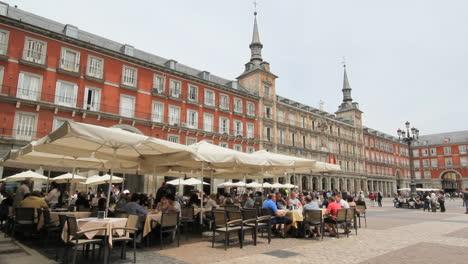 Madrid-Spain-Plaza-Mayor-with-cafe