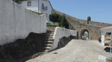 Marvao-walls-with-man-in-the-gateway
