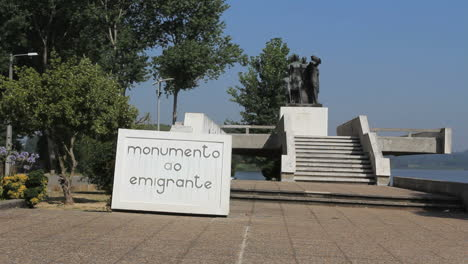 Emigrant-monument-in-a-Portuguese-village