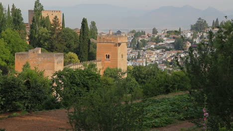 Granada-Alhambra-view-of-walls