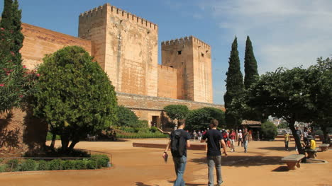 Spain-Andalucia-Alhambra-notched-towers-and-square