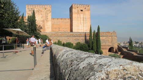 Spain-Andalucia-Alhambra-wall-at-observation-deck-2