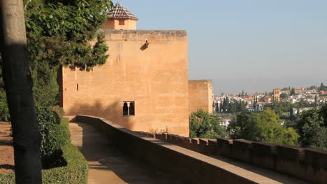 Spain-Andalucia-Alhambra-peach-colored-wall