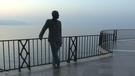 Spain-Nerja-Balcon-de-Europa-King-Alfonso-XII-statue