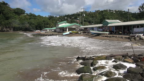 St-Lucia-fishing-village-waves-and-rocks