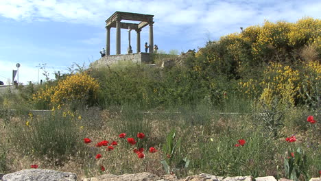 Avila-Spain-Four-Posts-and-flowers