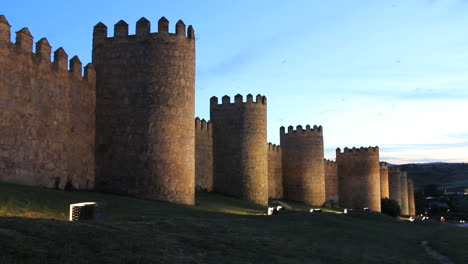 Avila-Spain-walls-at-night