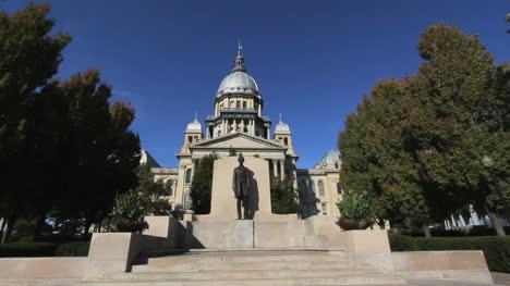 Estatua-De-Springfield-Lincoln-Statehouse-De-Illinois