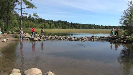 Minnesota-Lake-Itasca-Mississippi-Fluss-Oberlauf