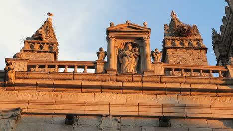 Spain-Avila-cathedral-Virgin-in-goldern-light