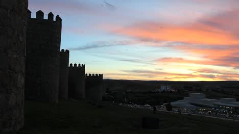 Spain-Avila-walls-at-sunset