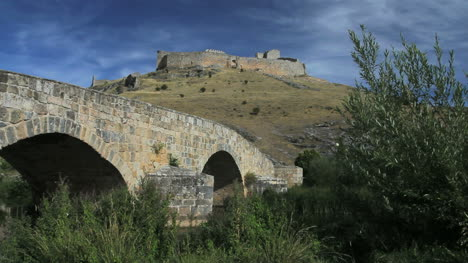 Spain-Castile-Burgo-de-Osma-castle-and-bridge