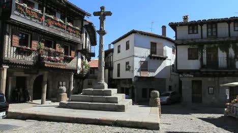 Spain-La-Alberca-Morning-Plaza-Pillar-2