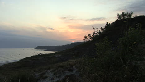 Spain-Galicia-Playa-Pregueira-sunset-zoom-out-7