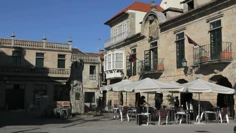 Spain-Galicia-Baiona-cafe-balconies