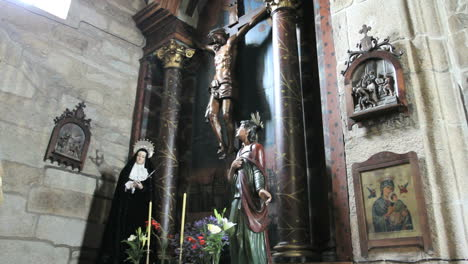 Spain-Galicia-dark-columns-crucifix
