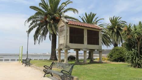 Spain-Galicia-granary-benches-esplanade
