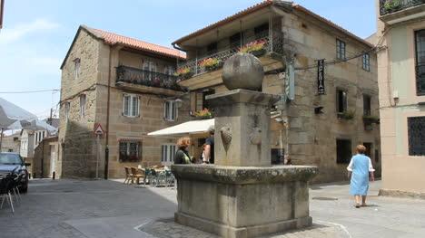 Spain-Galicia-plaza-stone-sphere