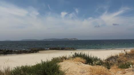 Spain-Galicia-Playa-Pregueira-with-island