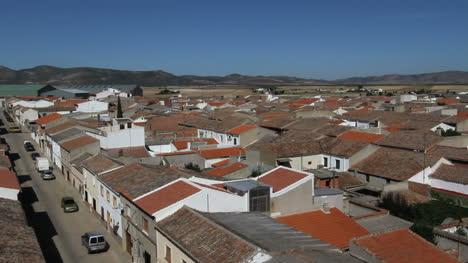 Spain-Castile-Calzada-de-Calatrava-rooftops-street-1