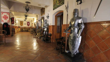 Spain-Castile-Calzada-de-Calatrava-Hospederia-knights-in-hall-1