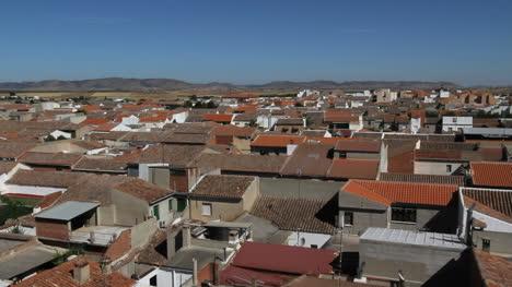 Spain-Castile-Calzada-de-Calatrava-rooftops-tiles-2