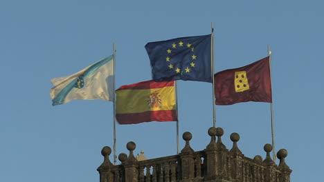 Spain-Galicia-Santiago-flags-2b