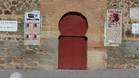 Toledo-bull-ring-door