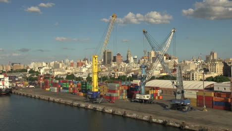 Uruguay-Montevideo-colorful-freight-containers-and-cranes-3