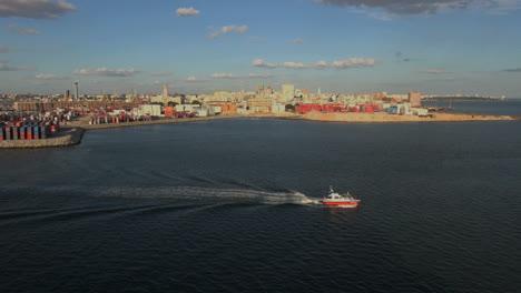 Uruguay-Montevideo-Wasserstraße-Und-Boot