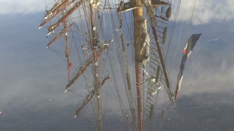 Argentina-Ushuaia-tall-ship-mast-reflections