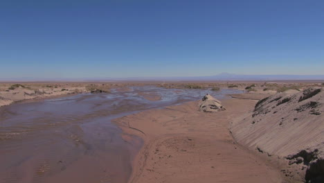 Chile-Atacama-water-laps-in-muddy-stream-bed