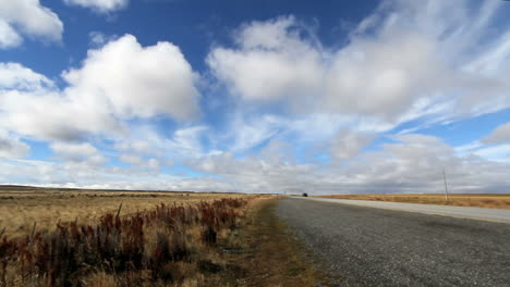 Patagonian-steppes-highway-time-lapse