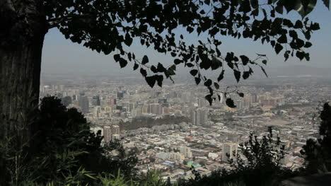 Vista-De-La-Ciudad-De-Santiago-Y-Hojas