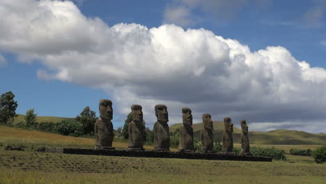 Easter-Island-Ahu-Akivi-seven-moai-under-cloud-bank-14