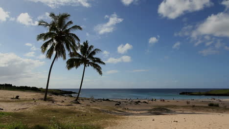 Anakena-Beach-with-palms-Easter-Island