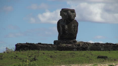 Easter-Island-Anakena-Ahu-Ature-Huke-against-sky-and-cloud-13