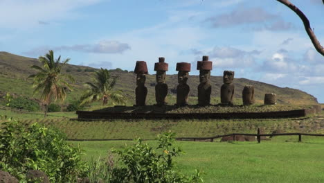 Easter-Island-Anakena-tree-and-moai-septet-zoom-6