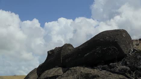 Easter-Island-Akahanga-fallen-moai-against-sky