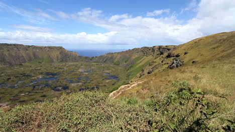 Easter-Island-Rano-Kau-crater-rim-and-ponds-12