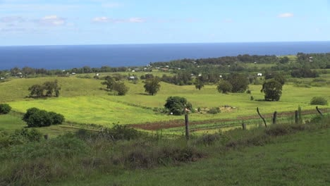 Easter-Island-Puna-Pau-green-meadow-near-sea-13
