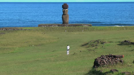 Easter-Island-Ahu-Ko-Te-Riku-with-man-13